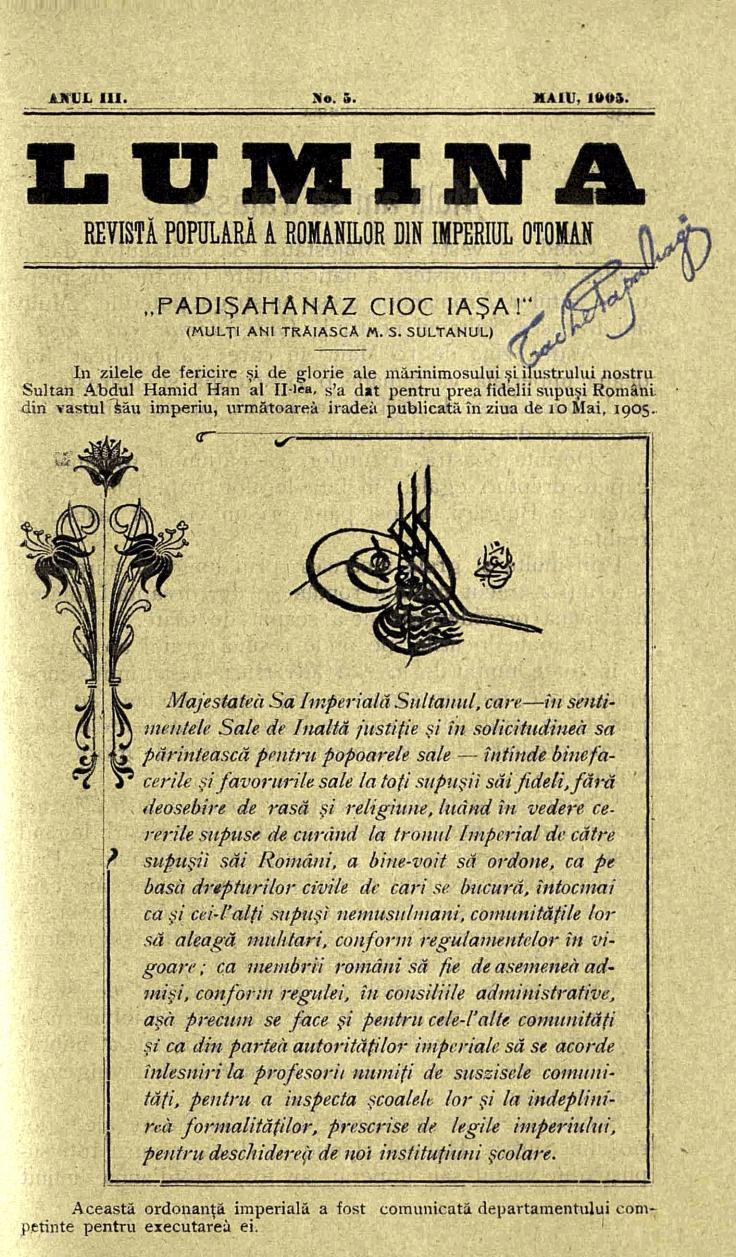 1 Lumina - mai 1905