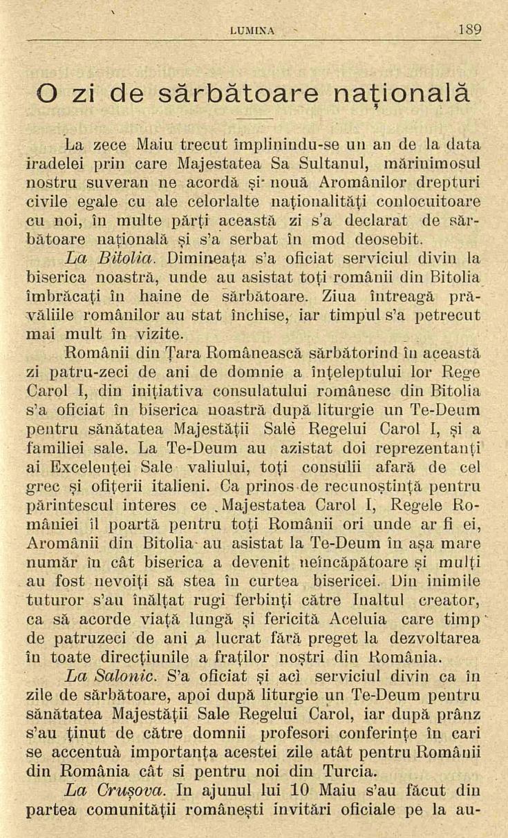3 Lumina - iunie 1906