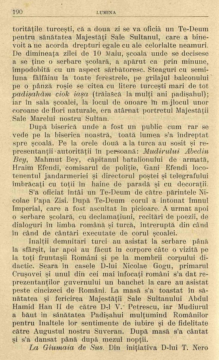 4 Lumina - iunie 1906